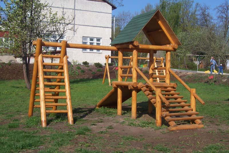 Детские площадки своими руками из дерева и бревен фото 44